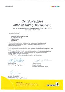 imupro sertifikatas