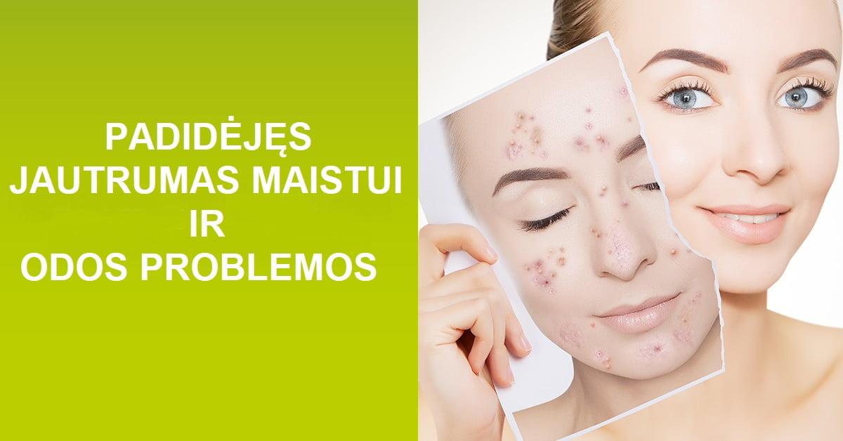 Uždelstos alergijos maistui ir odos problemos